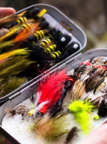 top fly Box full of wet fly fishing flies