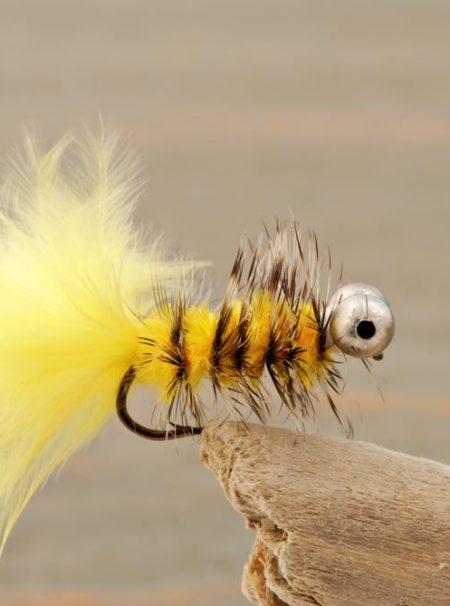 Fly Fishing Flies Popper Style on Mount