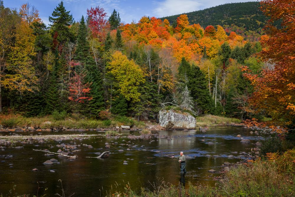 Fly Fishing in the AuSable River in New York