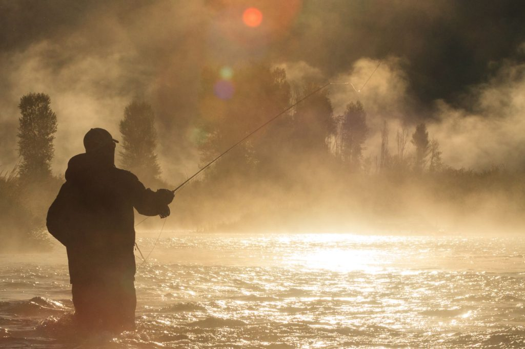 Misty fly fishing late