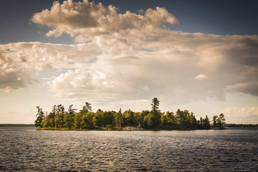 Lake Kabetogama Island Fly Fishing Spot in Minnesota