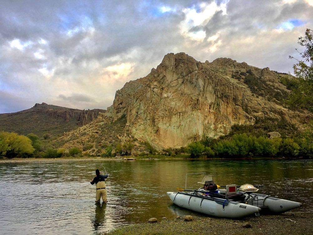 Nick Fly Fishing in Patagonia