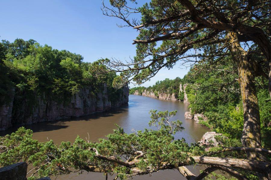Split Rock Creek South Dakota View of The River