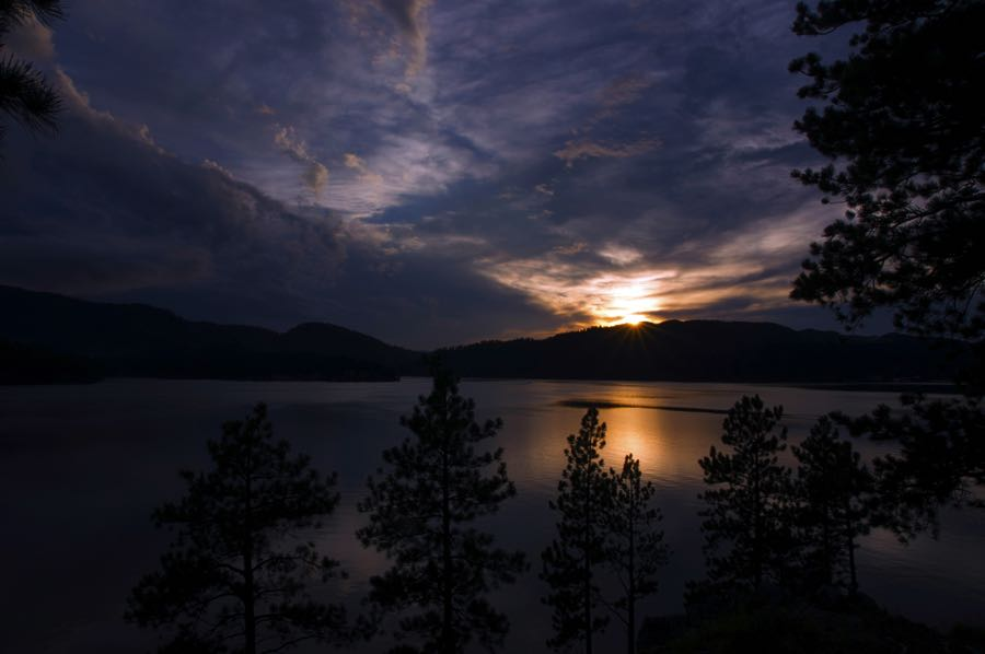 Sunset over Pactola Reservoir in South Dakota - A Fly Fishing Paradise