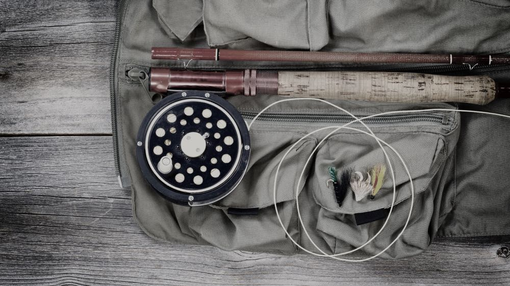 Budget fly rod and reel on table