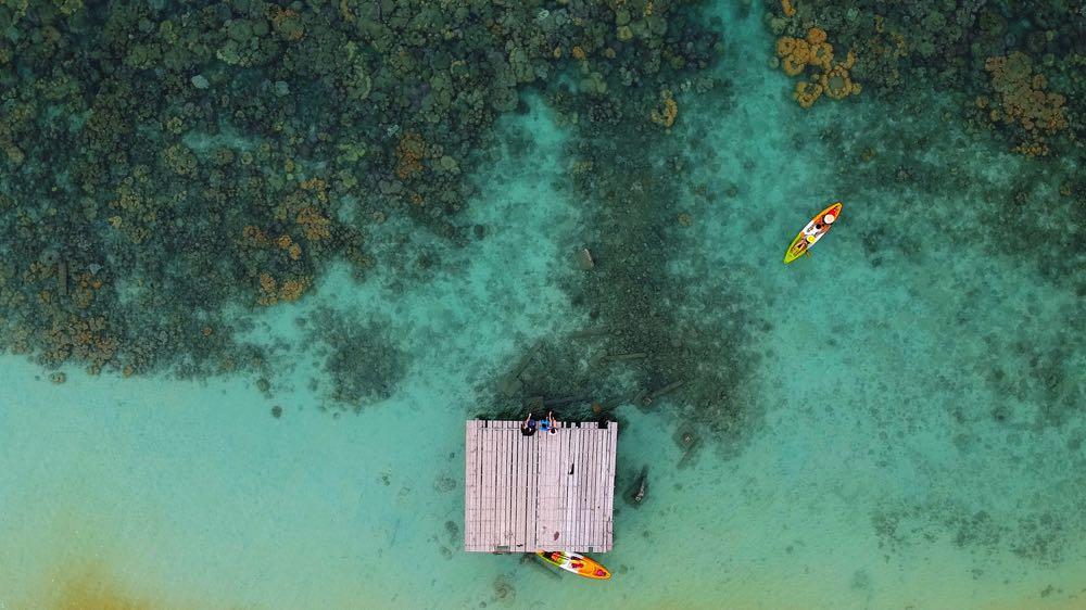 Best Fly Fishing Kayak aerial view