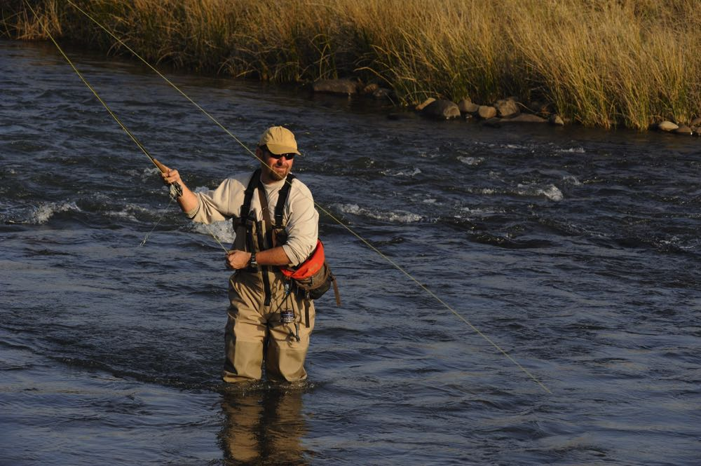 Fly Angler Fishing in South Africa River