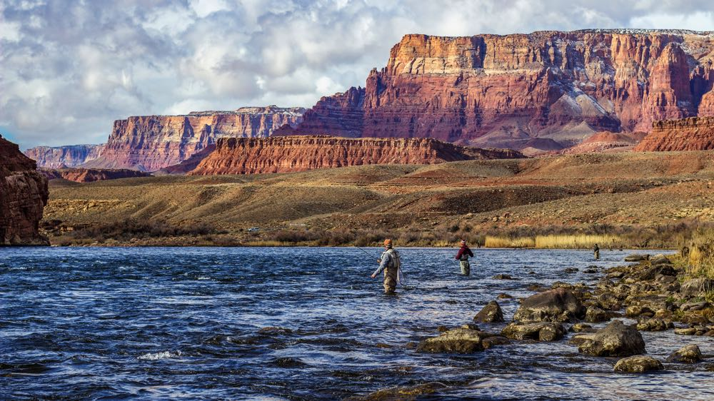 Fly Fishing Near Mountains in Arizona