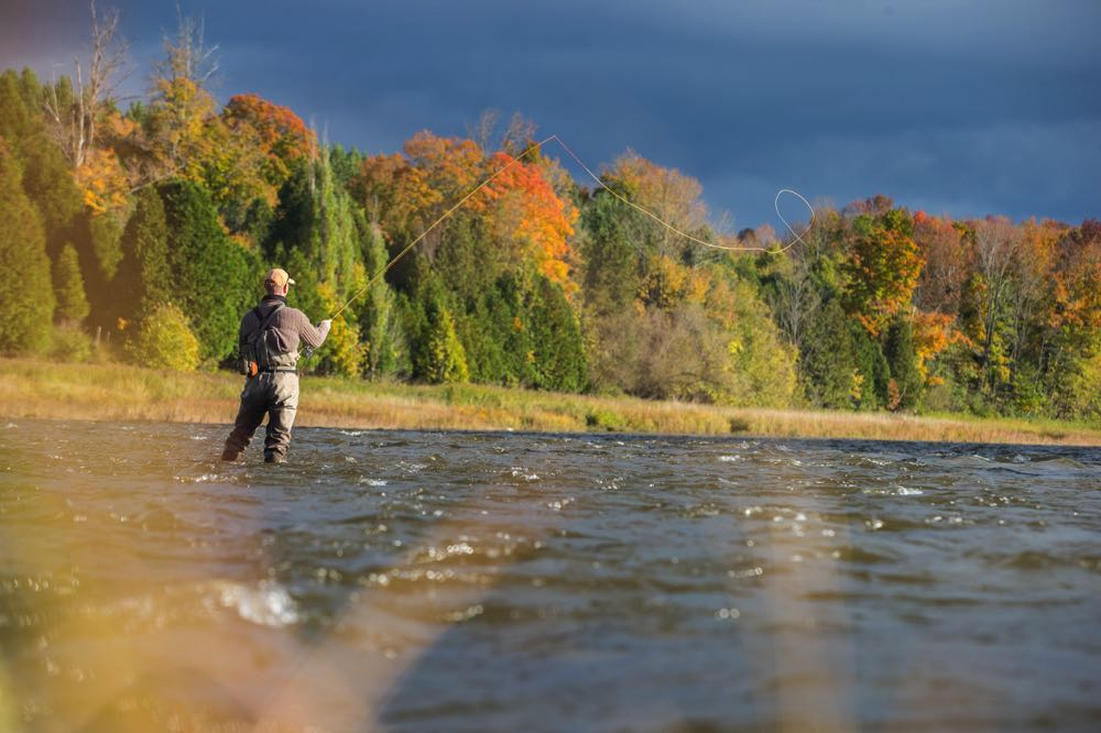 Fly Fishing in The Fall in Canada