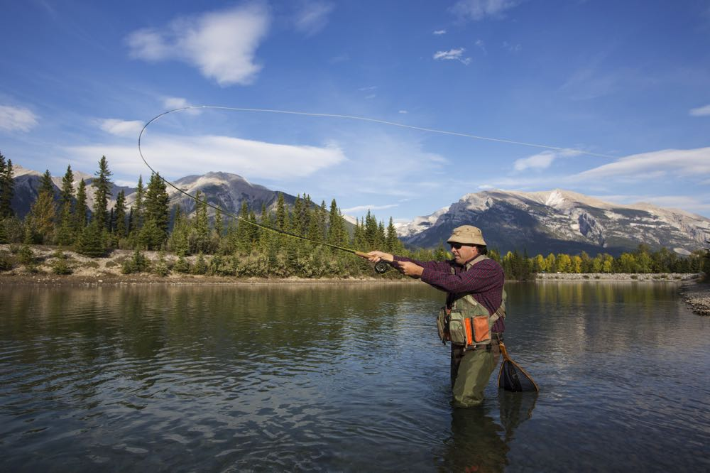 Fly Fishing on The Bow River in Canada