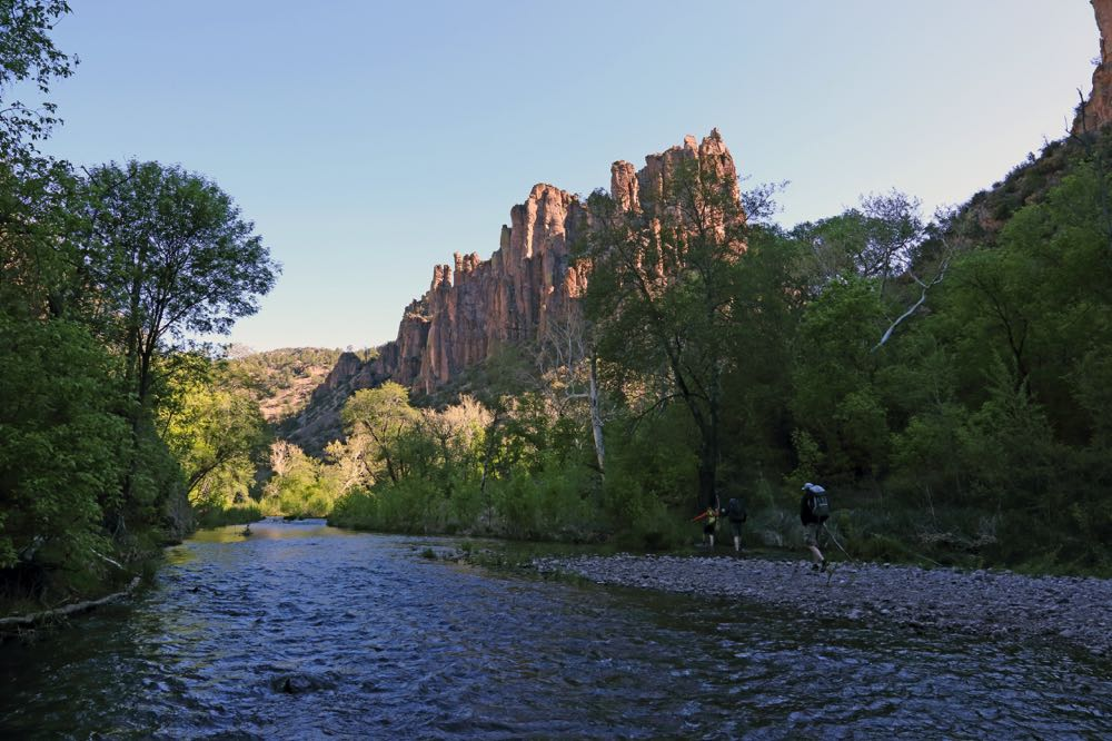 Hiking into the Gila River for fly fishing New Mexico