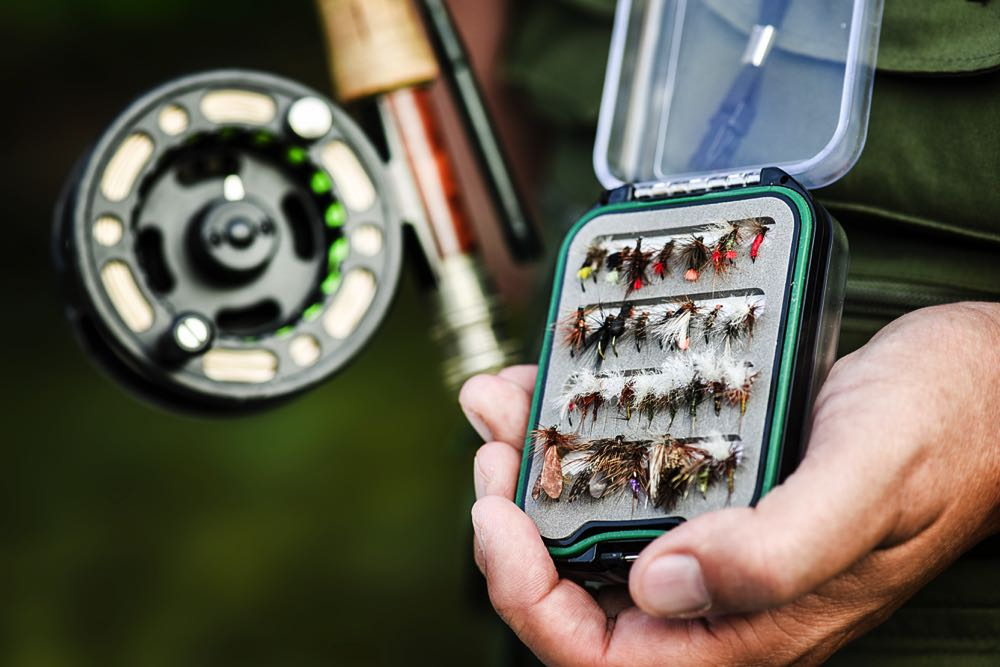 Holding a Fly Fishing Fly Box Open