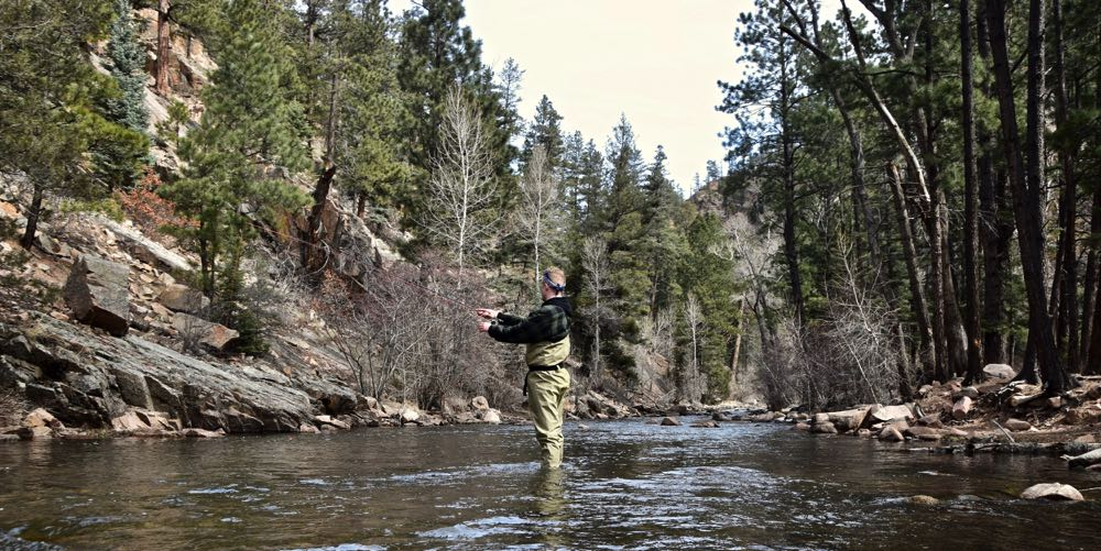 Me Wearing Frog Togg Waders in a River
