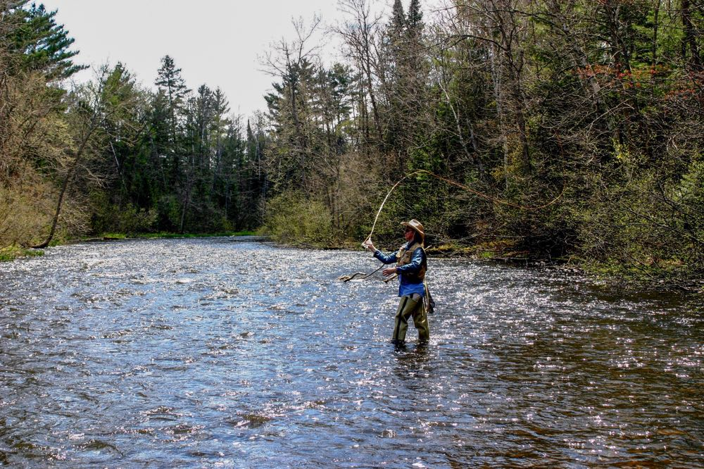 Rush River Fly fishing with fly fishing waders