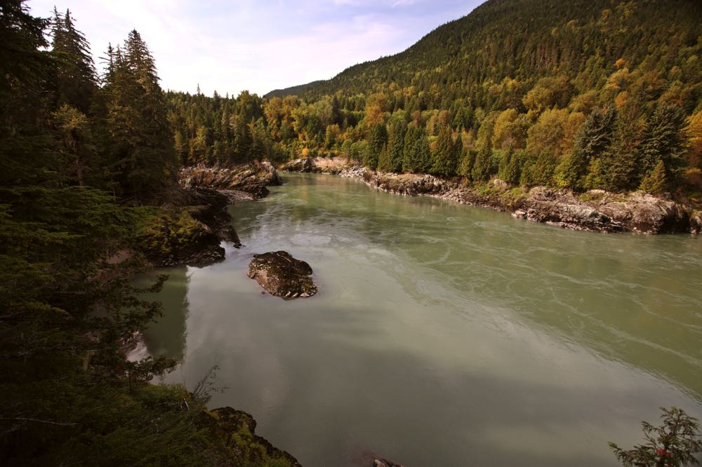Skeena River fly fishing spot in Canada