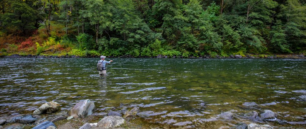 Spey Casting for steelhead on a river