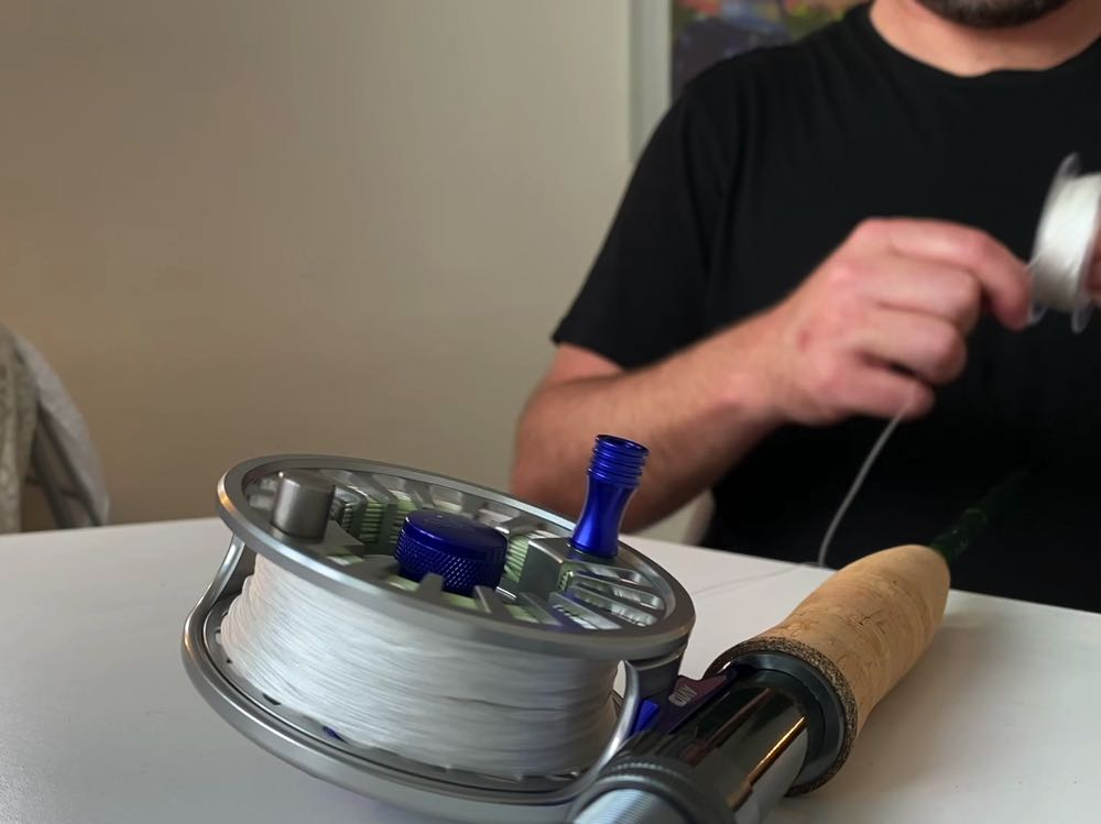 Step 6 how to tie line onto a fly reel unspool the backing