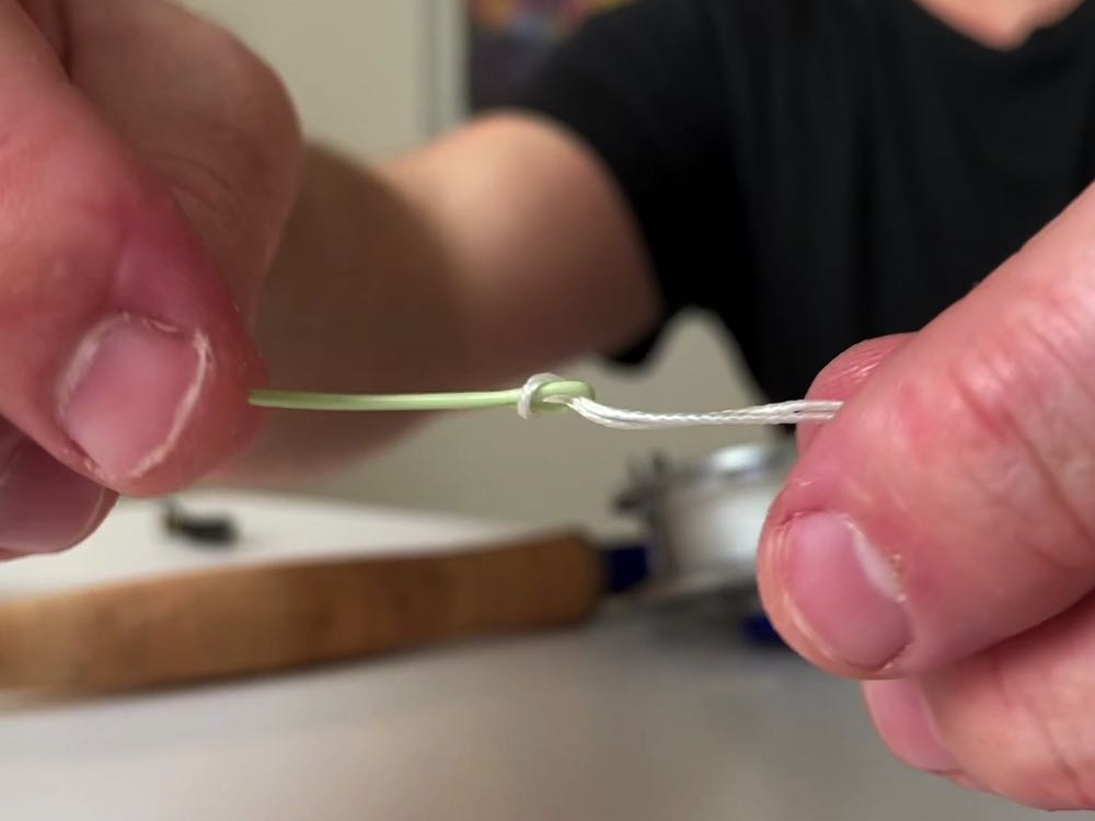 fly line connector loops