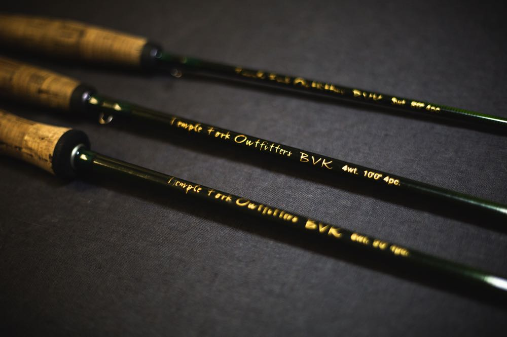 TFO BVK Fly Rod on a table