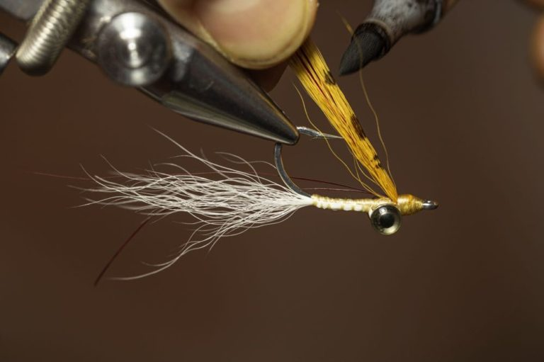 How to tie a Clouser Minnow Step 13