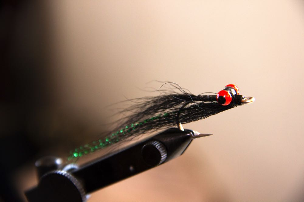 Clouser Minnow Fly in a Vise different color
