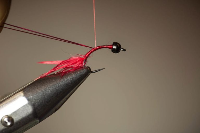 How To Tie a Bloodworm Larva Step 8 add flash