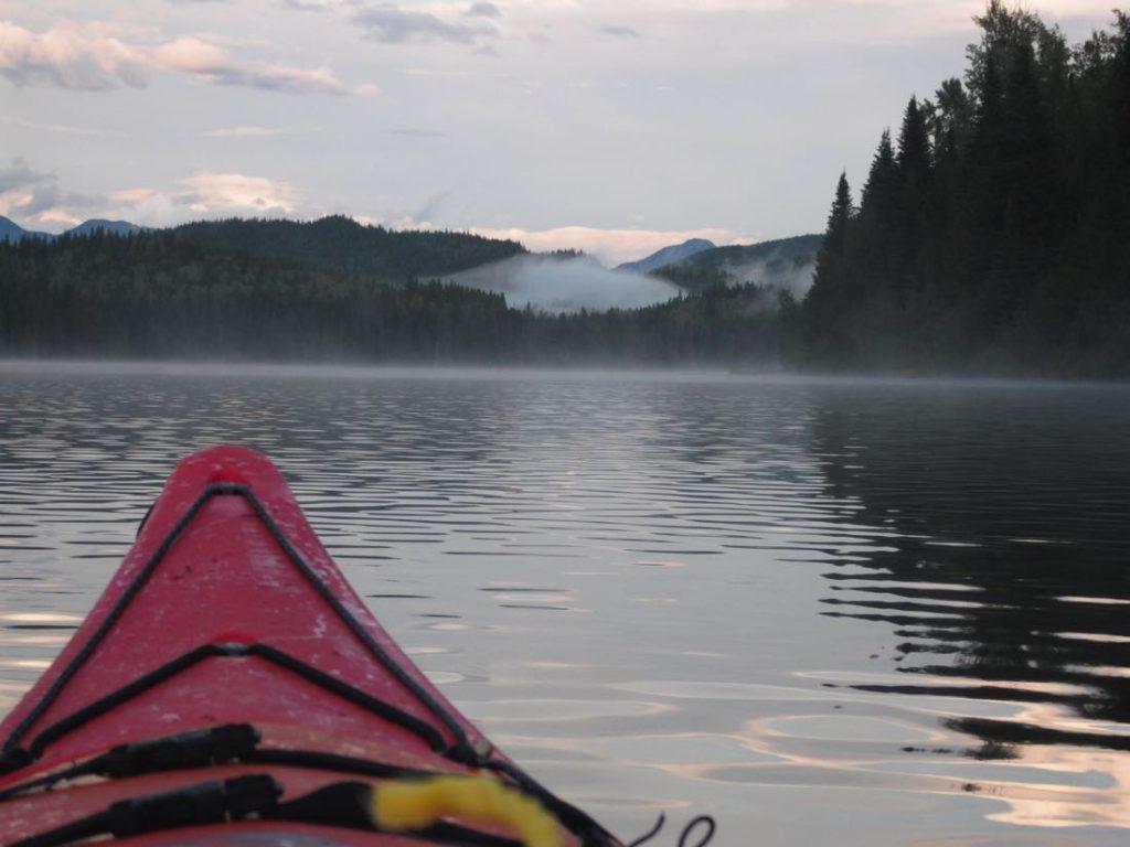 Kayaking Quesnel Lake BC