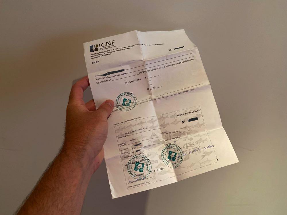 Fishing License Portugal