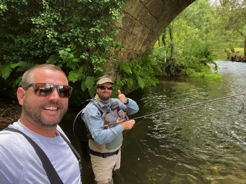 Fly Fishing with a guide from Minho Fly Fishing in Portugal