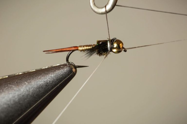 How Do You Tie a Copper John Fly Fishing Fly Step 17
