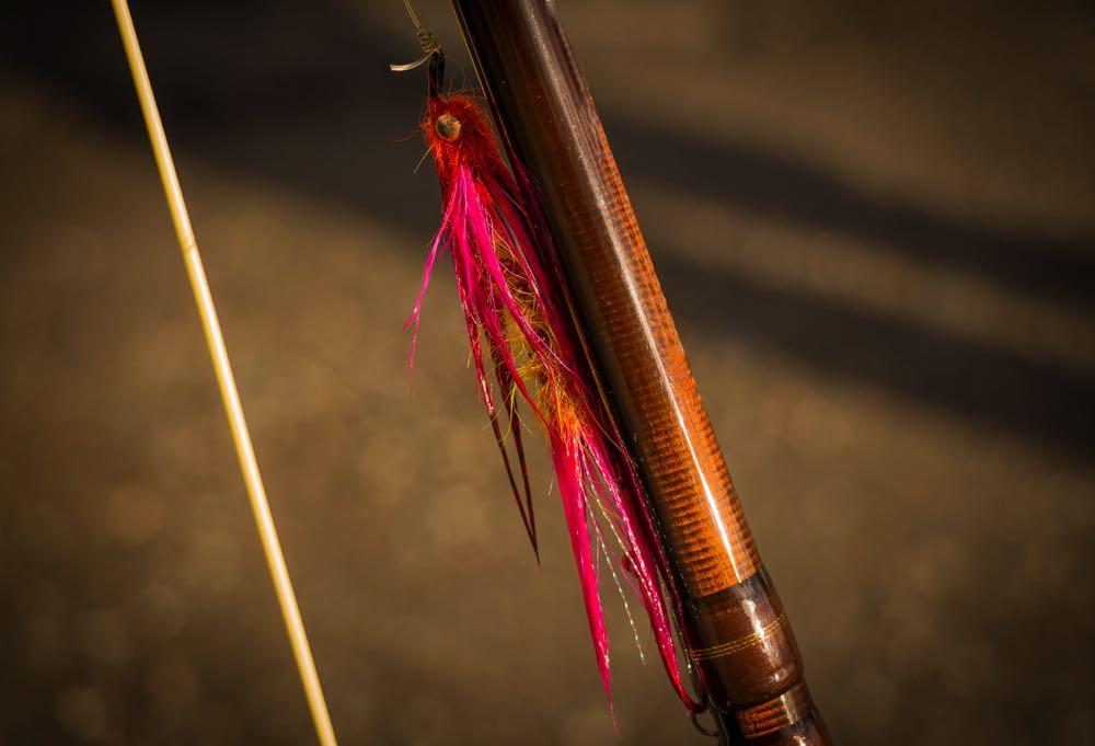 Intruder Salmon Fly on a Rod