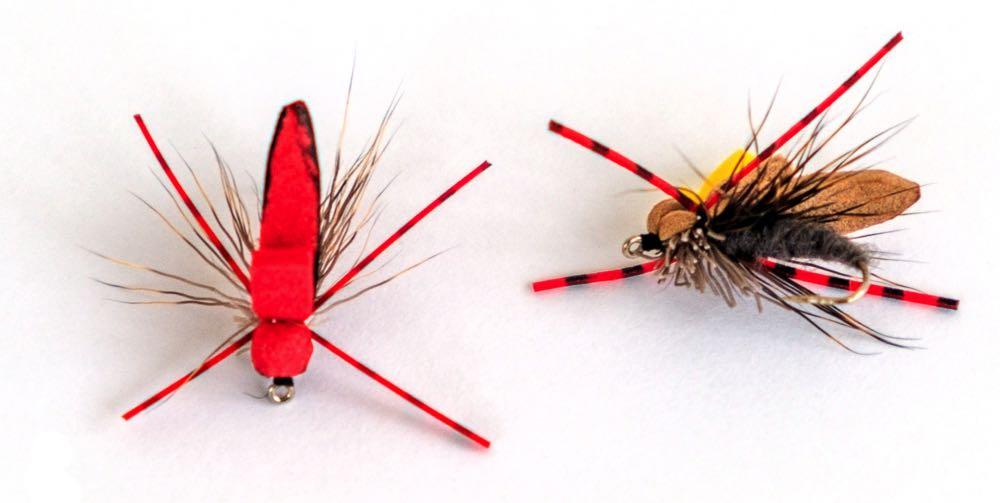 Terrestrial Dry Flies white background