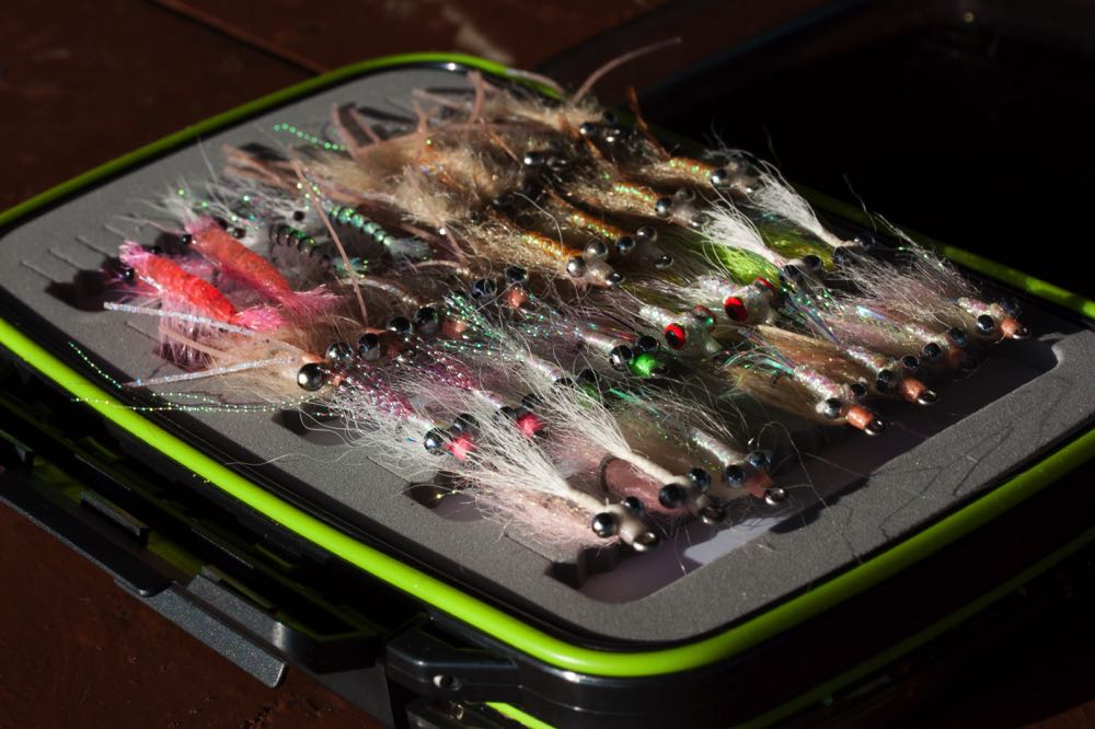 Baitfish Pattern Giant Trevally Flies in a fly box