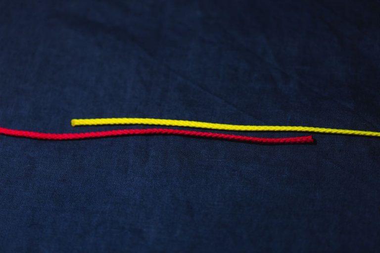 surgeon's knot_step1