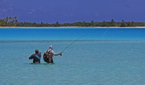 Fly Fishing Bonefish in Shallow Wading Water