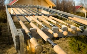 A bunch of bamboo fly rods
