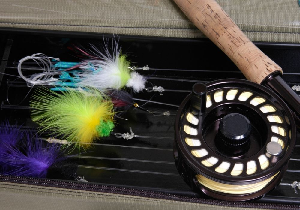 A fly rod and reel