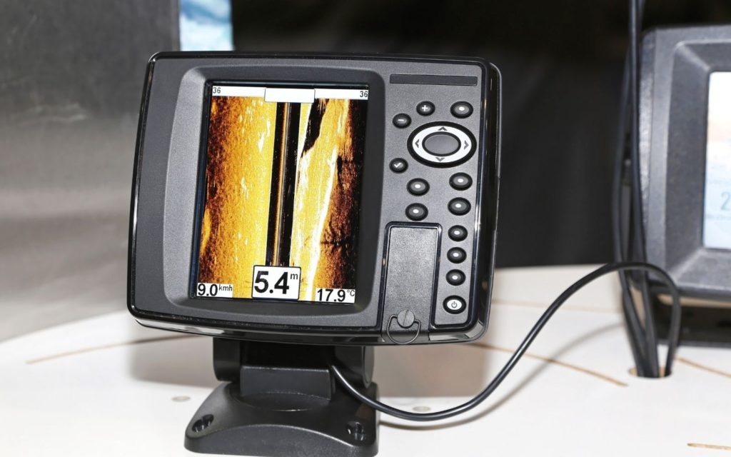 A fish finder close up