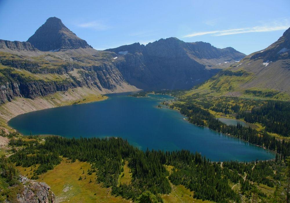 A huge lake in Sky Big, Montana