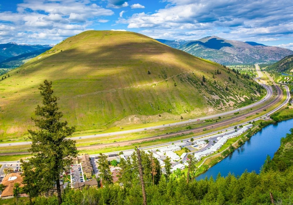 A stunning mountain and environment of Missoula, Montana.