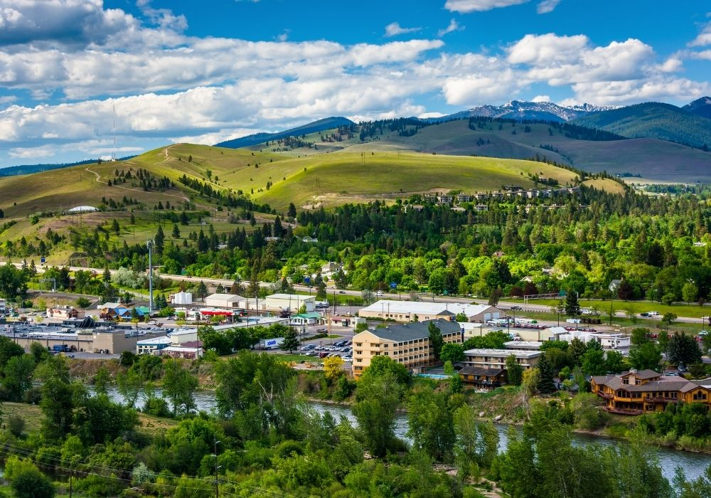 A stunning view of Missoula, Montana