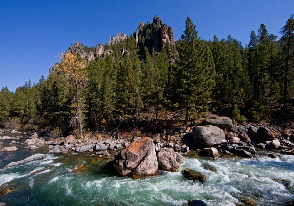 Gallatin River near Big Sky, Montana.