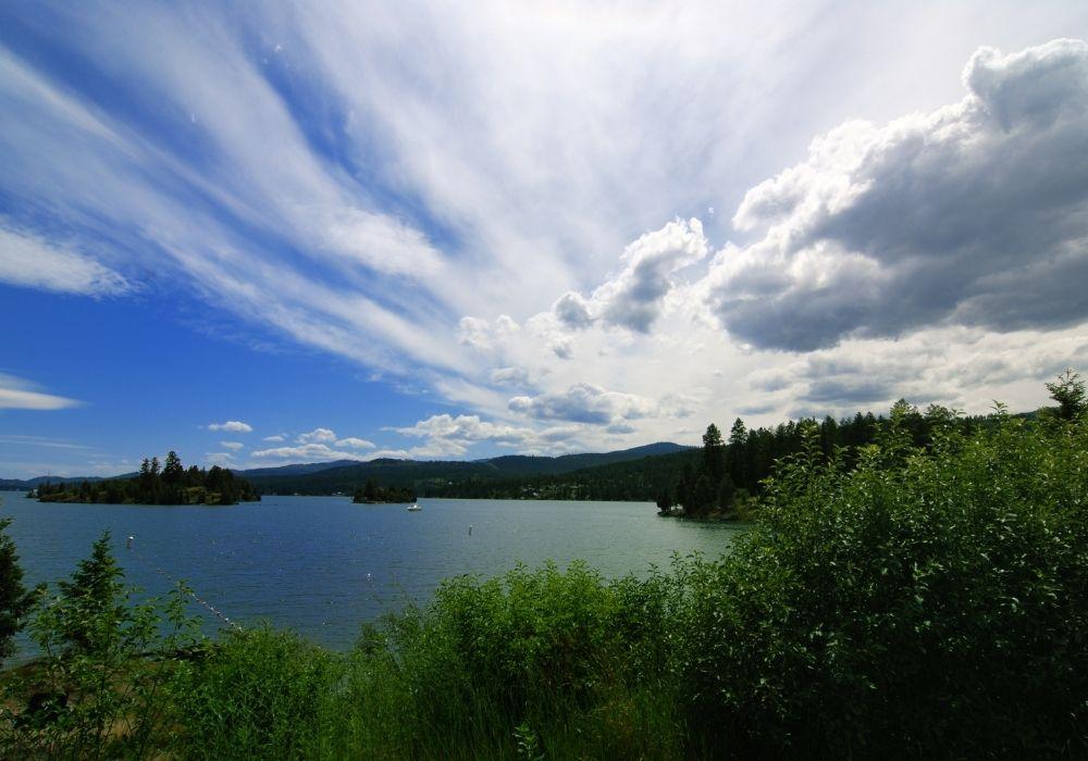 The amazing Flathead Lake in Montana.