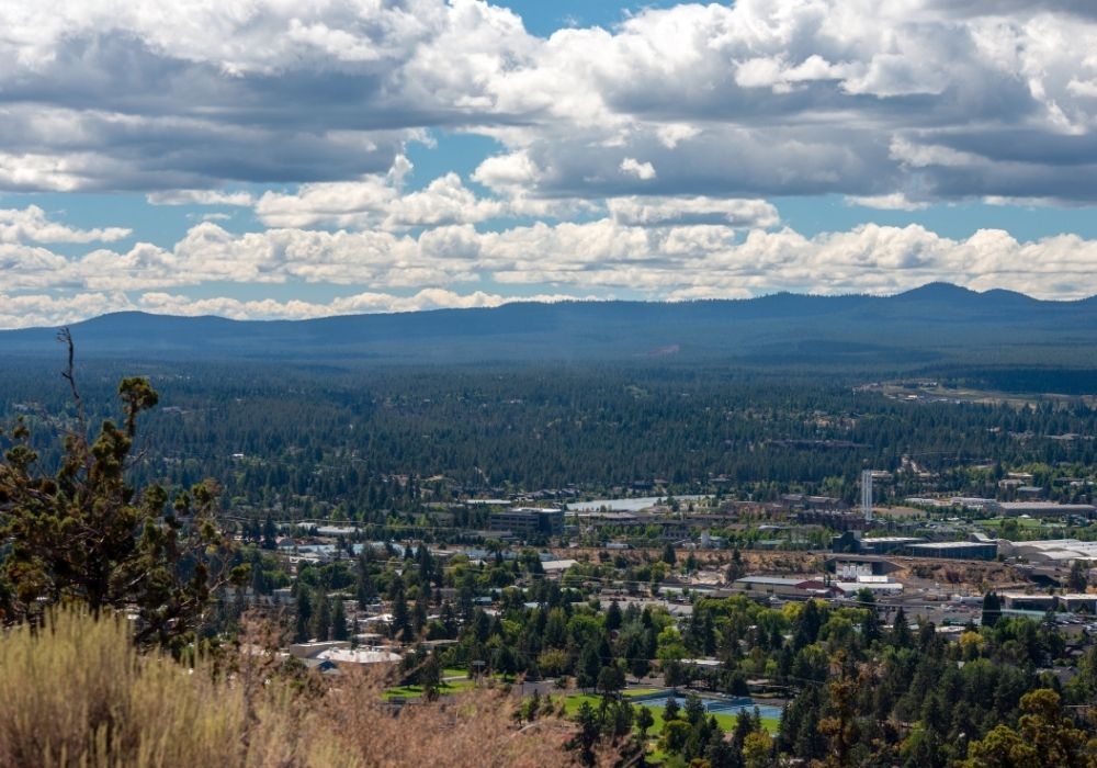 A beautiful Bend, Oregon from above.