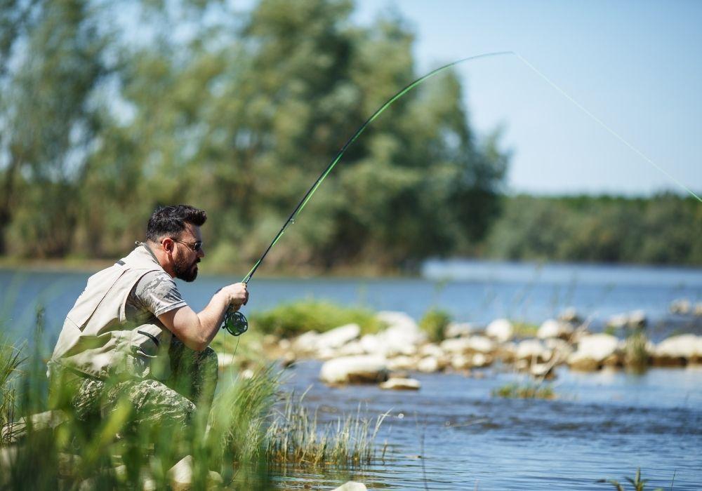 streamer fishing a river