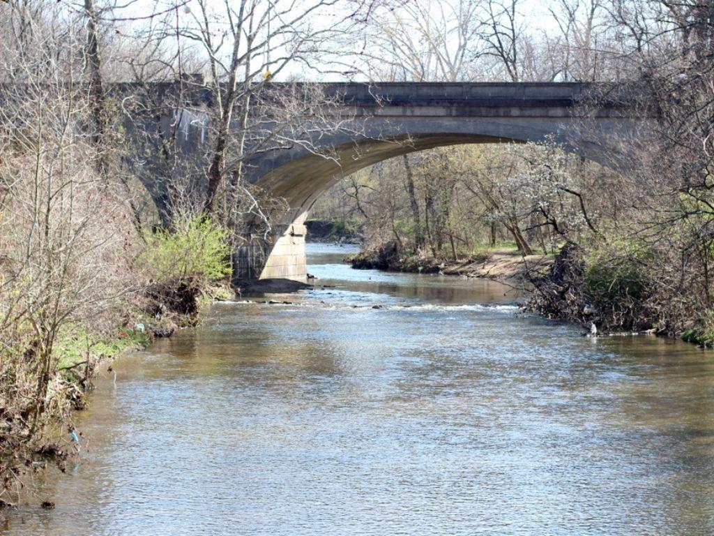 bridge in pennypack creek in philadelphia