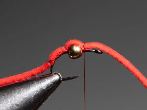 how to tie a san juan worm step 8