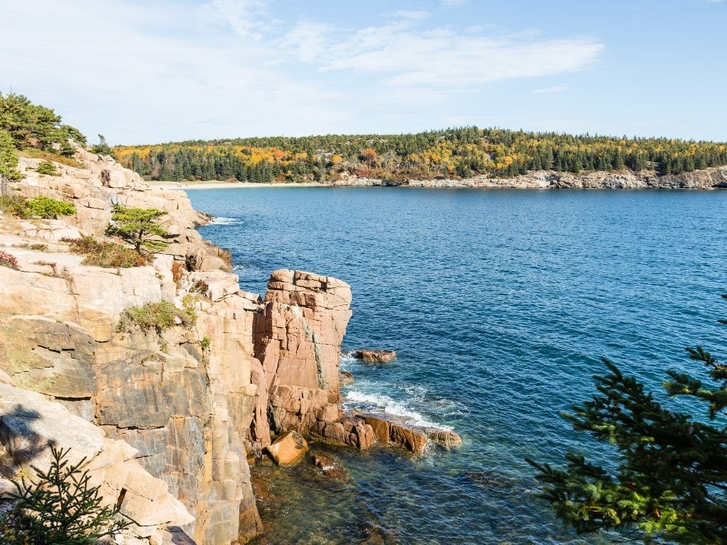 the beautiful Acadia National Park in Maine for fly fishing