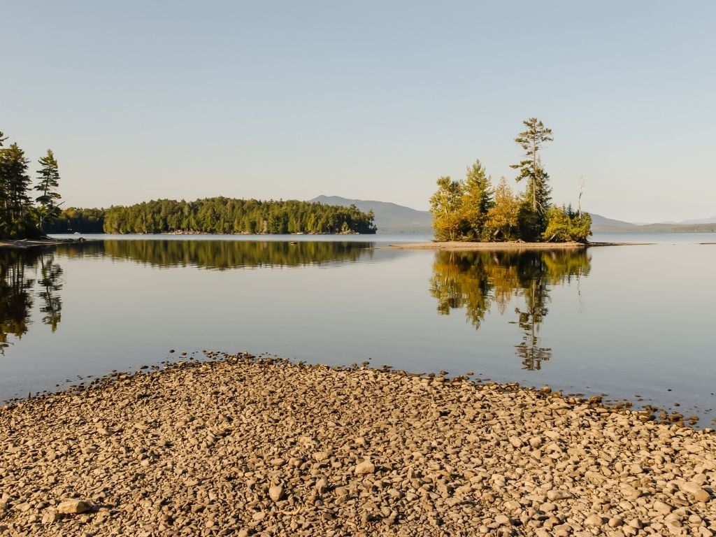 the beautiful Moosehead Lake in Maine for fly fishing
