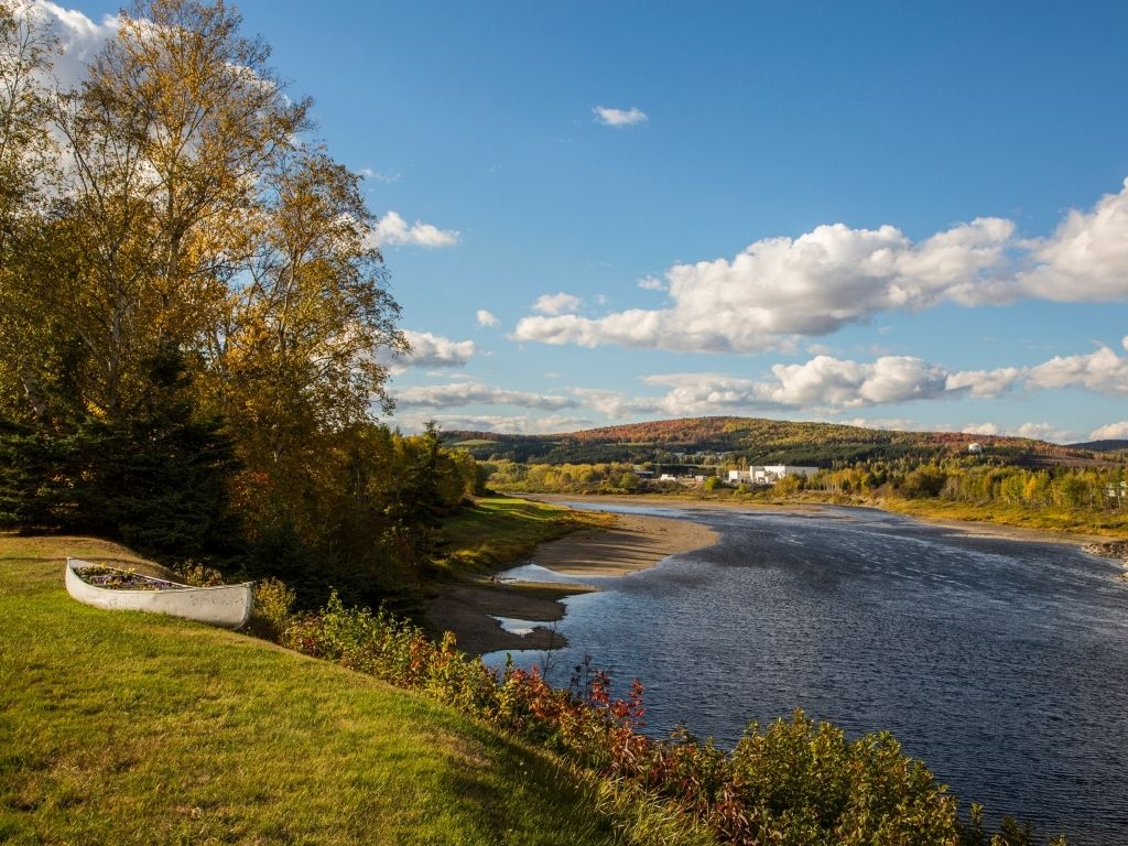 the beautiful Saint John River in Maine for fly fishing